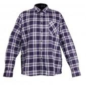 Koszula flanela M granatowo-szara