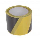 Taśma ostrzegawcza czarno-żółta 75mm 100m Profix