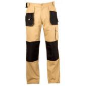 Spodnie bawełniane L (54) beżowe