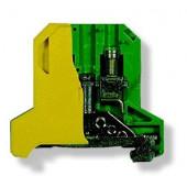 Złączka szynowa gwintowa ochronna 6,0mm2 TS 35 żółto-zielony