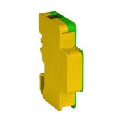 Blok rozdzielczy jednobiegunowy EBR60A żółto-zielony