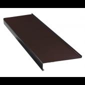 Parapet zewnętrzny stalowy 20x120cm brązowy