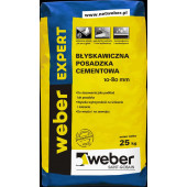 Weber Expert błyskawiczna cementowa 10-80mm 25kg