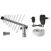 Antena zewnętrzna DVB-T BEN-20 G/Z z zasilaczem