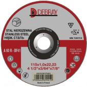 TARCZA DO INOX 115x1,0x22,23 DEBRAY HPM