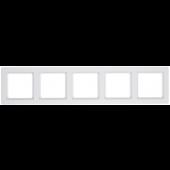 Q.1 ramka 5-krotna biały aksamit