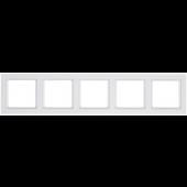 RAMKA Q.3 5-KROTNA biały aksamit HAG