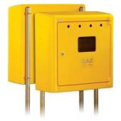 Obudowa gazomierza 60x60x25 natynkowa zamknięta żółta