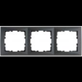 Ramka 3-krotna antracyt mat B.Kwadrat