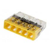 Wago szybkozłączka 5x2,5mm 12szt. żółte