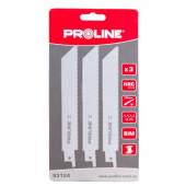 Zestaw brzeszczotów do metalu 3szt. Proline
