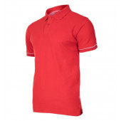 Koszulka polo, 220g/m2, czerwona, 2XL