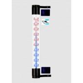 Termometr zaokienny samoprzylepny 20x190 brąz