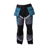 Spodnie z pasami odblaskowymi 3XL czarno-szaro-turkusowe