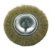 Szczotka tarczowa z drutu mosiądzowanego 75mm