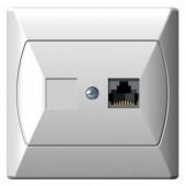 Akcent Gniazdo komputerowe pojedyncze kat.5e białe