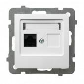 Gniazdo As komputerowe pojedyncze, kat. 5e MMC białe