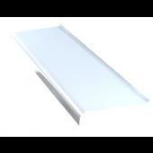 Parapet zewnętrzny stalowy 20x120cm biały