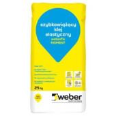 Klej elastyczny Weberfix Moment 25kg szybkowiążący