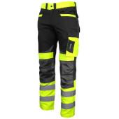Spodnie ostrzegawcze S czarno-żółte LahtiPro