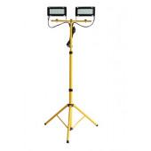 Naświetlacz LED 2x40W na statywie żółty