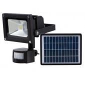 Reflektor LED 30W z czujnikiem i panelem czarny
