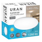 Oprawa LED ORO Uran 18W-DW-MIC
