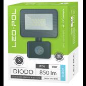 Naświetlacz LED ORO Diodo 10W-G-PIR-EXT-CW