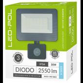 Naświetlacz LED ORO Diodo 30W-G-PIR-EXT-CWII