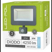 Naświetlacz LED ORO Diodo 50W-G-PIR-EXT-DW