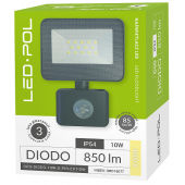 Naświetlacz LED ORO Diodo 10W-G-PIR-EXT-DW