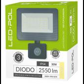 Naświetlacz LED ORO Diodo 30W-G-PIR-EXT-DW