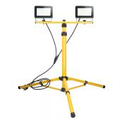 Naświetlacz LED na statywie 2x30W żółty