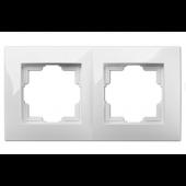 Ramka Carla 2-krotna biała