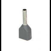 Końcówka tulejkowa izolowana 2,5mm2 podwójna 25szt