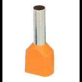 Końcówka tulejkowa izolowana 4mm2 podwójna 25szt