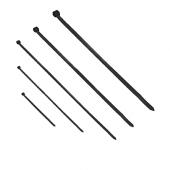 Opaski kablowe zestaw 100szt czarne