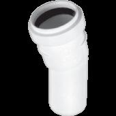 Kolano 32mm/15° PP białe