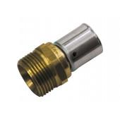 Złączka Alpex 20mmx1/2'' GZ Press PPSU z pierścieniem