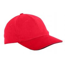 Czapka z daszkiem czerwona
