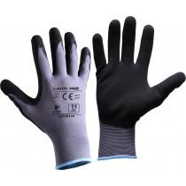 Rękawice powlekane nitrylowe L szaro-czarne