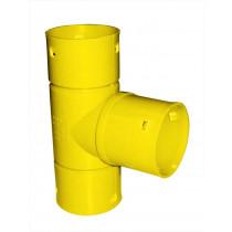 Dren-trójnik 80x80/90°  PVC